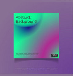 Abstract colorful cover template with gradient vector