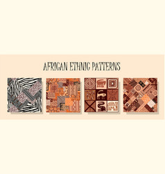 African ethnic pattern a set of patterns vector