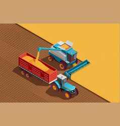 Agricultural machines background vector