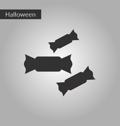 black and white style icon halloween candies vector image