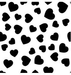 black heart silhouettes seamless pattern random vector image