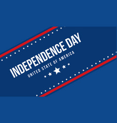 Blue background independence day collection vector