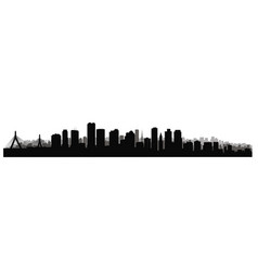 boston downtown city skyline usa skyscraper vector image