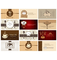 Business cards food and drink vector