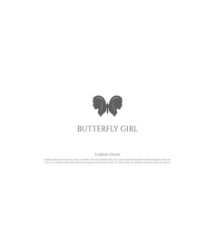 butterfly with sexy woman girl face for night bar vector image