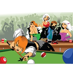 Cartoon Billiards pool game vector image