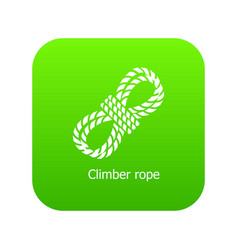 climber rope icon green vector image