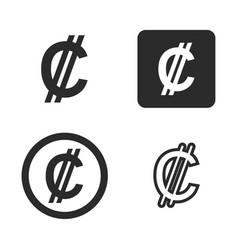 colon currency symbol set vector image
