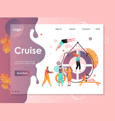 cruise website landing page design template vector image