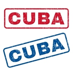 Cuba Rubber Stamps vector