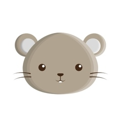cute mouse isolated icon vector image