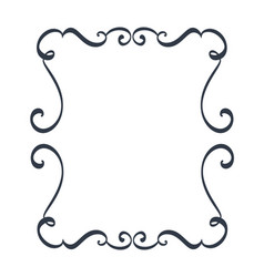 Decorative frames and border standard rectangle vector