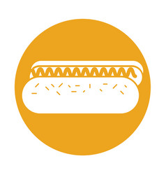Delicious hot dog icon vector