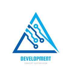 development electronic technology - logo vector image