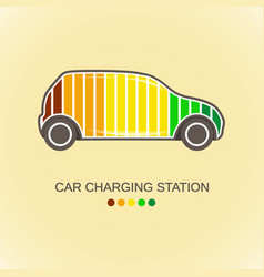 electric auto icon flat design vector image