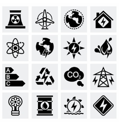 Energetics icon set vector