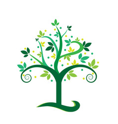 environment isolated green tree icon vector image