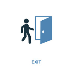 exit icon monochrome style design from shopping vector image
