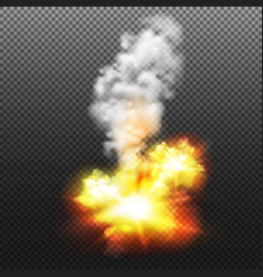 explosion transparent vector image