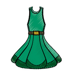 fashion woman dress vector image