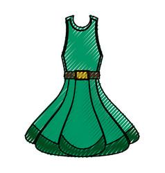 Fashion woman dress vector