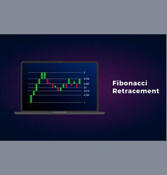Fibonacci retracement - technical analysis vector