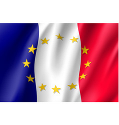 france national flag with a star circle of eu vector image
