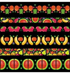 fruity juicy patterns vector image