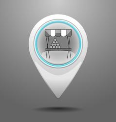 Glossy Market Icon vector