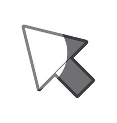 Grayscale silhouette of arrowhead icon vector