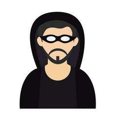 Hacker with mask avatar vector