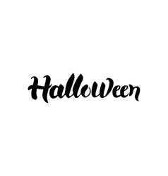 halloween black calligraphy vector image