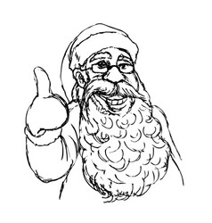 hand cartoon santa claus vector image
