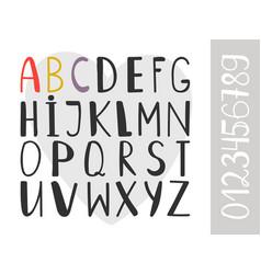 handdrawn alphabet font vector image