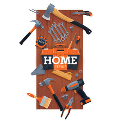 home repair and renovation hand tools kit vector image