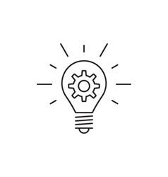 Idea icon outline vector