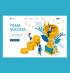 isometric success a good business team vector image