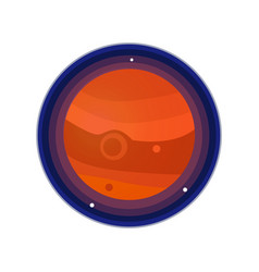 Jupiter icon vector