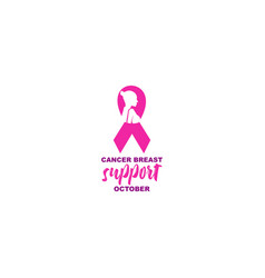 Lady strong breast cancer awareness design vector