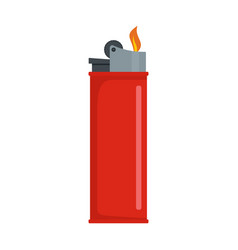 lighter icon flat style vector image