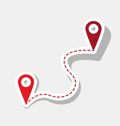Location pin navigation map gps sign new vector