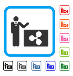 Manager show ripple framed icon vector