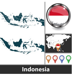 Map indonesia vector