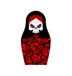 Matrioshka skull russian folk doll death national vector