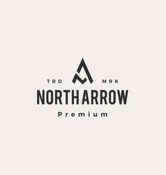 Na letter mark north arrow hipster vintage logo vector
