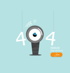 oops 404 error page not found flat design vector image
