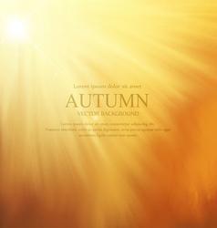 orange background with sun rays vector image