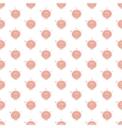 pink sheep pattern vector image