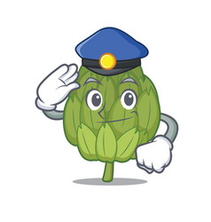 police artichoke character cartoon style vector image