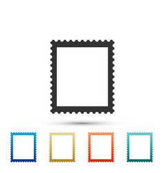 postal stamp icon isolated on white background vector image